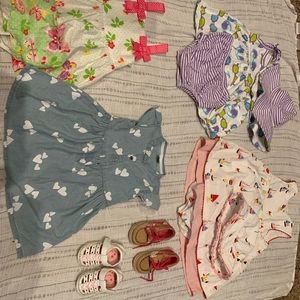 Other - 12 mo lot of dresses and shoes